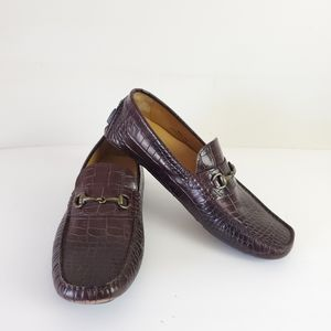 Cole Haan Leather brown leather driver loafers